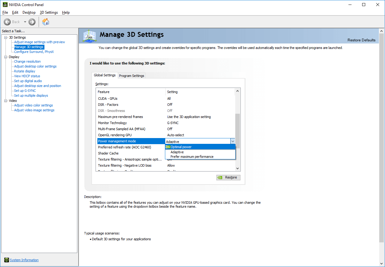 What Is The Nvidia Power Management Mode?